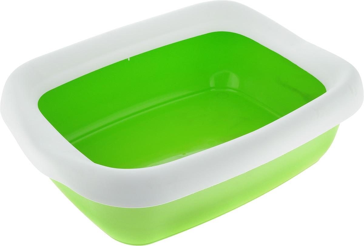 Туалет для кошек MPS Beta, с бортом, цвет: зеленый, белый, 43 х 31 х 12,5 см 1000pcs transistor mpsa 42 mpsa42 a42 mps a42 to 92