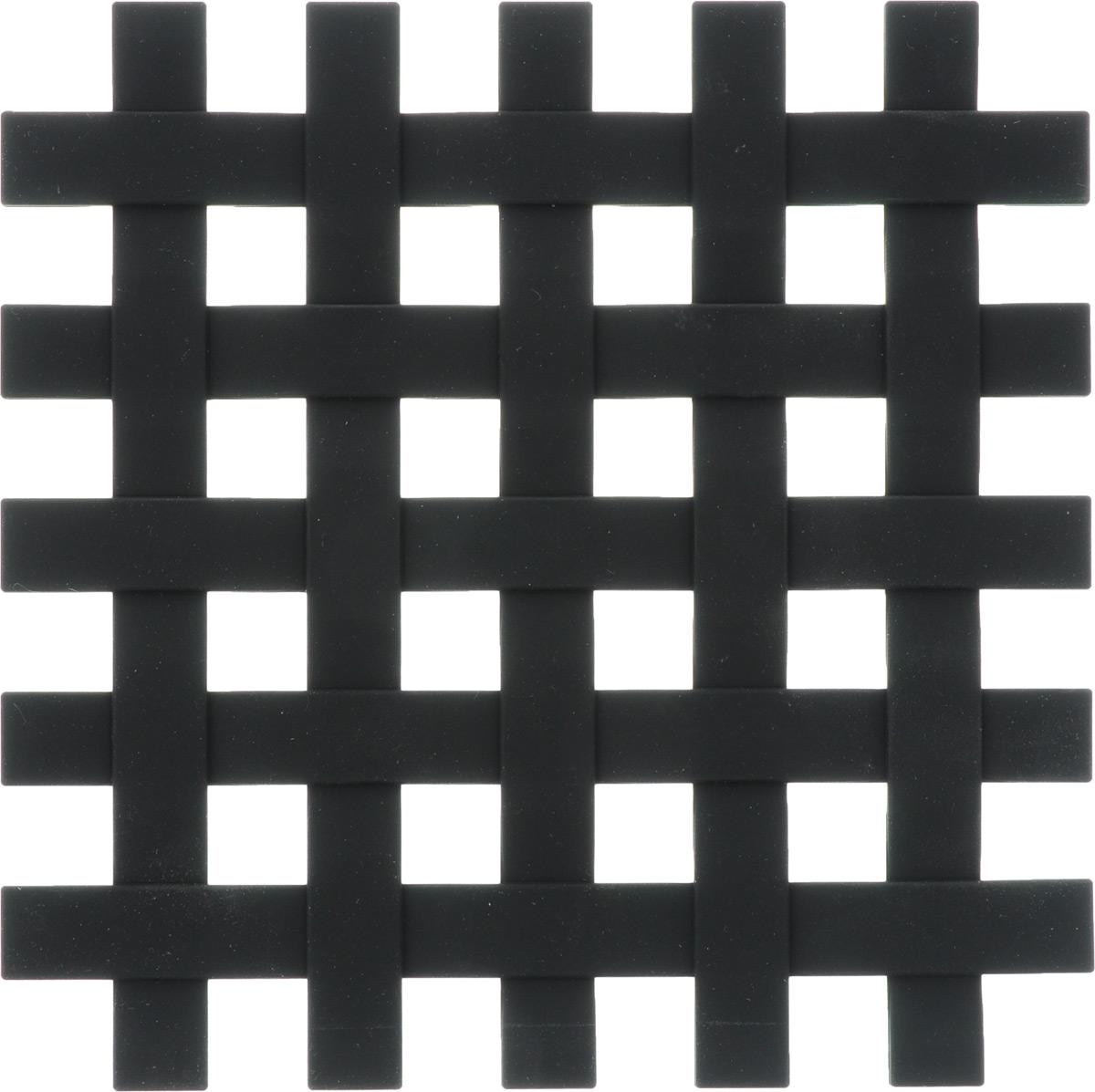 Подставка под горячее Zeller, цвет: черный, 17,2 х 17,2 см27232Подставка под горячее Zeller в виде решетки изготовлена из силикона. Материал позволяет выдерживать высокие температуры и не скользит по поверхности стола.Каждая хозяйка знает, что подставка под горячее - это незаменимый и очень полезный аксессуар на каждой кухне. Ваш стол будет не только украшен оригинальной подставкой, но и избежит воздействия высоких температур.