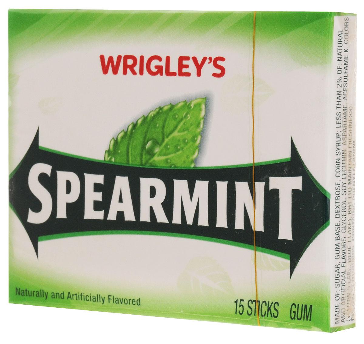 Wrigleys Spearmint жевательная резинка, 40,5 г226650Классическая жевательная резинка Wrigleys Spearmint. Великолепный мятный вкус дарит свежесть уже более 100 лет.Уважаемые клиенты! Обращаем ваше внимание, что полный перечень состава продукта представлен на дополнительном изображении.