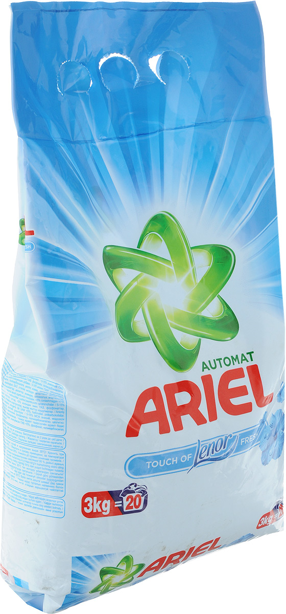 """Стиральный порошок Ariel """"Lenor Touch of Fresh"""", автомат, 3 кг"""