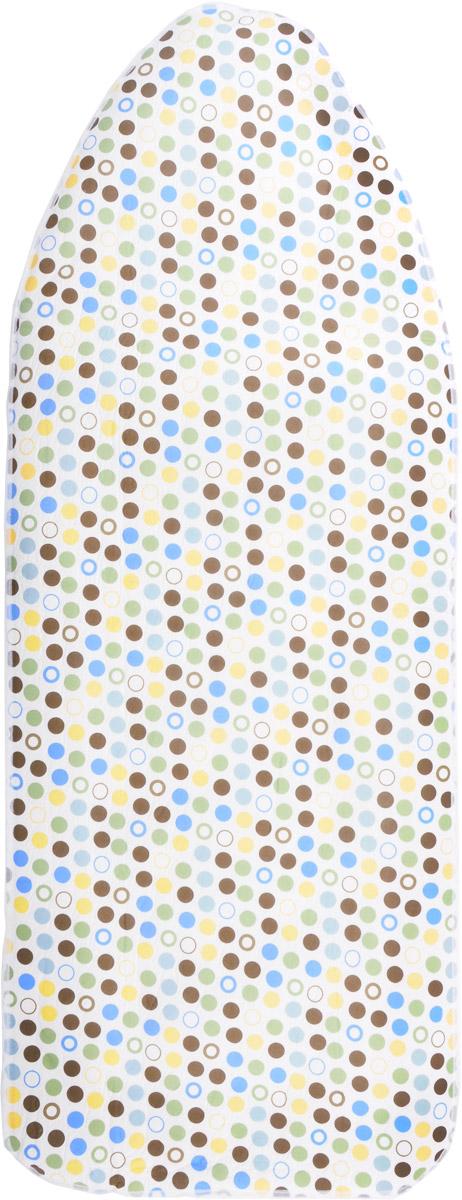 Чехол для гладильной доски  Paterra , с поролоном, цвет: кремовый, зеленый, черный, 146 х 55 см - Гладильные доски