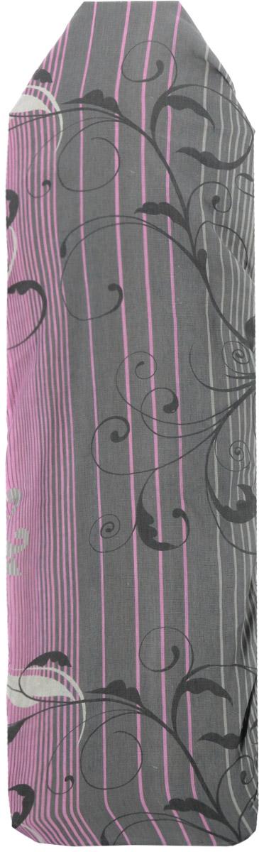 Чехол для гладильной доски Eva, цвет: серый, розовый, черный, 119 х 37 смЕ1304_серый, розовыйХлопчатобумажный чехол Eva с поролоновым слоем продлитсрок службы вашей гладильной доски. Чехол снабжен прочной резинкой, припомощи которой вы легко зафиксируете его на рабочей поверхности гладильной доски. Размер чехла: 119 х 37 см.Максимальный размер доски: 110 х 30 см.