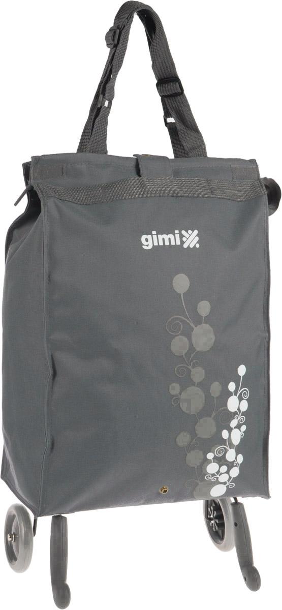 Сумка-тележка Gimi Bella, цвет: серый, 38 л1505460020002Хозяйственная сумка-тележка Gimi Bella выполнена из высококачественного полиэстера со стальным каркасом. Она оснащена одним вместительным отделением, закрывающимся с помощью застежки-молнии. Сумка водоустойчива, оснащена парой колес, которые обеспечивают удобство транспортировки. Для компактного хранения сумку можно сложить. Максимальная нагрузка: 15 кг.