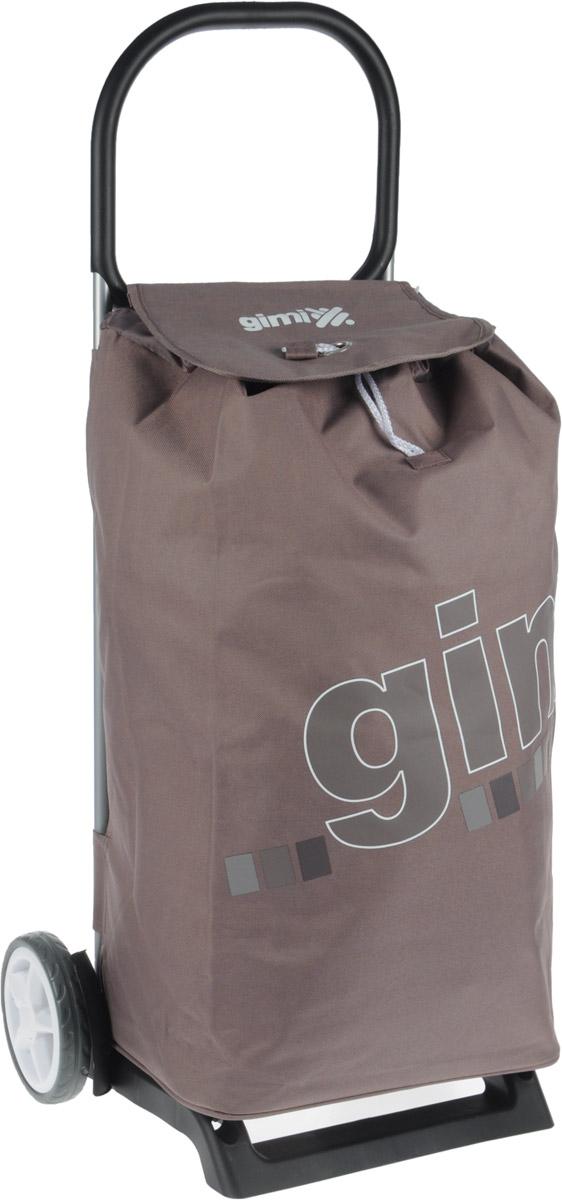Сумка-тележка Gimi Italo, цвет: светло-коричневый, 52 л1536077001001Хозяйственная сумка-тележка Gimi Italo выполнена из высококачественного полиэстера со стальным каркасом. Она оснащена одним вместительным отделением, закрывающимся на кулиску и шнурок. Снаружи имеется карман на застежке-молнии. Сумка водоустойчива, оснащена парой колес, которые обеспечивают удобство транспортировки. Для компактного хранения сумку можно сложить. Максимальная нагрузка: 30 кг.