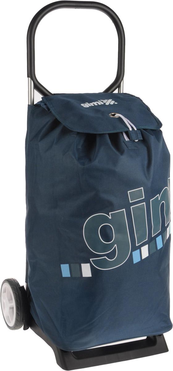 Сумка-тележка Gimi Italo, цвет: синий, 52 л1536077000000Хозяйственная сумка-тележка Gimi Italo выполнена из высококачественного полиэстера со стальным каркасом. Она оснащена одним вместительным отделением, закрывающимся на кулиску и шнурок. Снаружи имеется карман на застежке-молнии. Сумка водоустойчива, оснащена парой колес, которые обеспечивают удобство транспортировки. Для компактного хранения сумку можно сложить. Максимальная нагрузка: 30 кг.