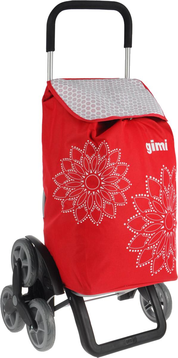 Сумка-тележка Gimi Tris Floral, цвет: красный, черный, 56 л1507935010000Хозяйственная сумка-тележка Gimi Tris Floral выполнена из высококачественного полиэстера со стальным каркасом. Она оснащена одним вместительным отделением, закрывающимся на шнурок. Снаружи карман на застежке-молнии и маленькая ручка для пристегивания к тележке супермаркета. Сумка водоустойчива, оснащена тремя парами колес, которые обеспечивают удобство транспортировки. Для компактного хранения сумку можно сложить. Максимальная нагрузка: 30 кг.Вместимость сумки: 56 л. Размеры (вместе с тележкой): 51 х 41 х 102 см. Высота сумки: 60 см. Ширина сумки: 36 см. Глубина сумки: 25 см.