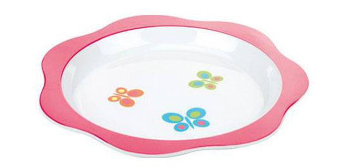 Тарелка детская Tescoma Bambini. Бабочки, цвет: розовый, белый, диаметр 22 см668012Детская тарелка Tescoma Bambini. Бабочки изготовлена из безопасного пластика.Тарелочка, оформленная веселой картинкой забавных бабочек, понравится и малышу, и родителям! Ребенок будет с удовольствием учиться кушать самостоятельно.Тарелочка подходит для горячей и холодной пищи. Можно использовать в посудомоечной машине. Нельзя использовать в микроволновой печи.Внешний диаметр тарелки: 22 см. Внутренний диаметр тарелки: 17,7 см.