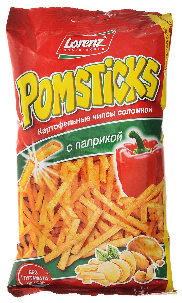 Lorenz Pomsticks картофельные чипсы с паприкой, 100 г lorenz pomsticks картофельные чипсы со вкусом сметаны и специй 100 г