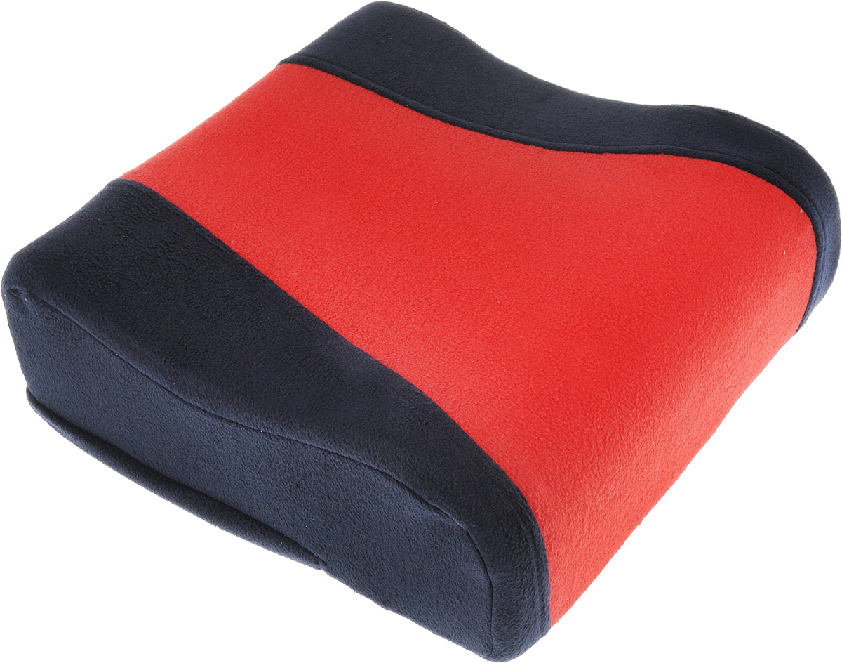 Подушка вспомогательная Антей Бустер, цвет: темно-синий, красный, 6-12 лет, до 36 кг22622.Подушка вспомогательная Антей Бустер - сиденье для безопасной перевозки ребенка в автомобиле, группа 3 (22-36 кг), для детей 6-12 лет. Подушка выполнена из флиса, в качестве наполнителя используется поролон. Детское сиденье устанавливается на любое, кроме переднего ряда, посадочное место в автомобиле, оборудованное диагонально-поясным ремнем безопасности. Поверхность изделия препятствует скольжению по сиденью. Анатомическая верхняя часть позволяет использовать его при поездках на дальние расстояния. Также вы можете использовать сиденье для кормления ребенка на взрослом стуле за обеденным столом. При загрязнении наружный чехол легко снимается для стирки.