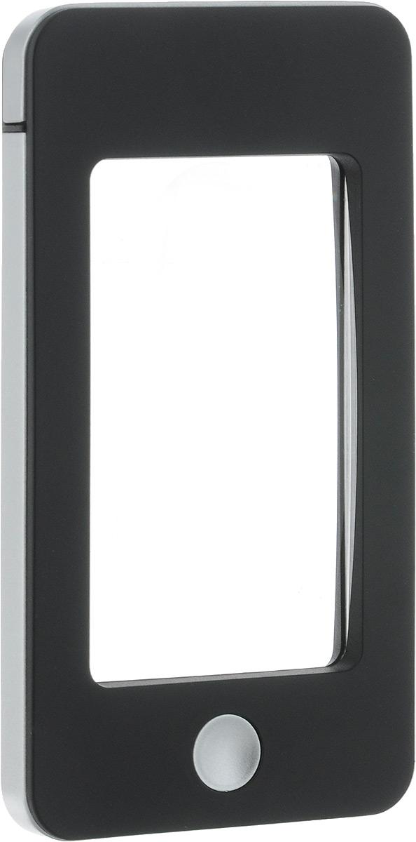 Лупа Veber, с подсветкой, цвет: черный, серый, 2,5х/4х оптическая лупа veber 7161