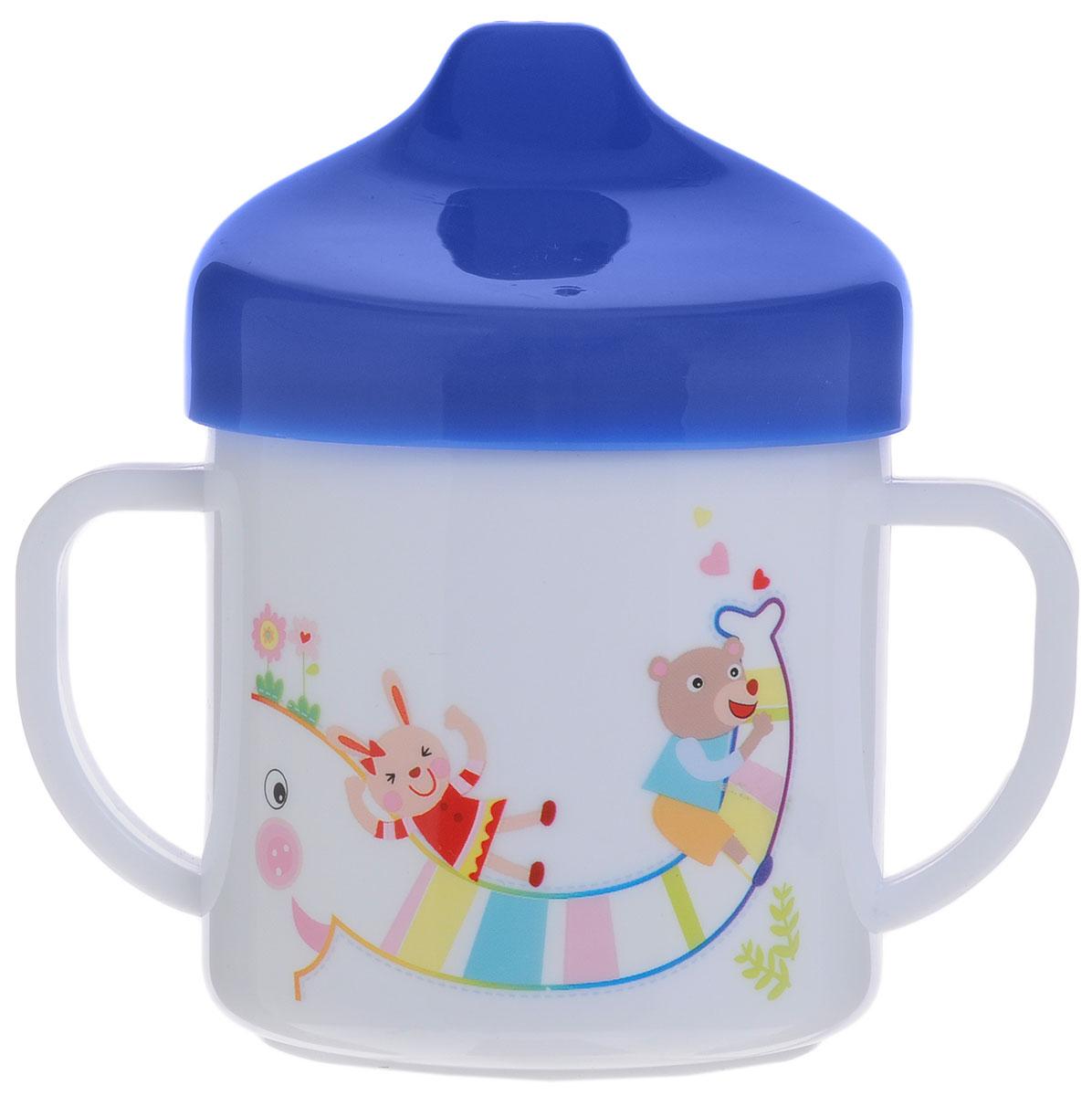 Canpol Babies Чашка-поильник цвет белый синий 200 мл babies стульчик для кормления h 1 babies panda