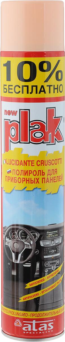 Полироль для приборных панелей Plak Персик, 750 мл полирующее молочко atas plak 2r для пластика дерева резины и мрамора 750 мл