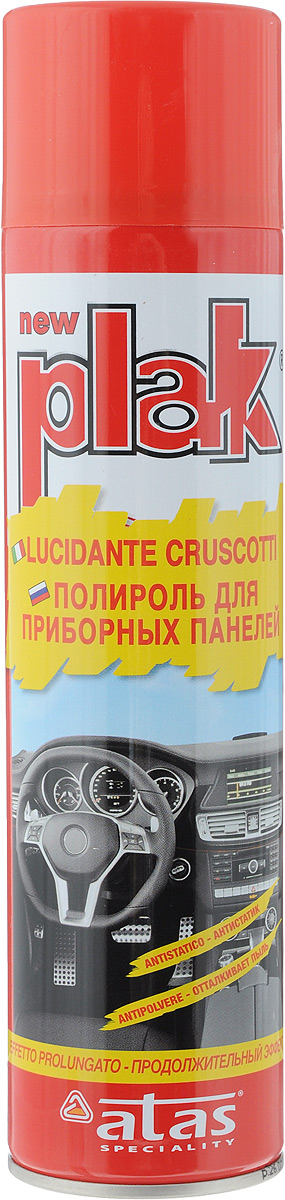 Полироль для приборных панелей Plak Клубника, 400 мл5121Полироль Plak Клубника предназначен для панели приборов, содержит освежитель воздуха продленного действия. Возвращает первоначальный блеск всем пластмассовым, виниловым и резиновым элементам отделки салона автомобиля, создавая на поверхности стойкий антистатический слой, отталкивающий пыль и грязь. Также полироль позволяет создать глянцевое покрытие. Товар сертифицирован.