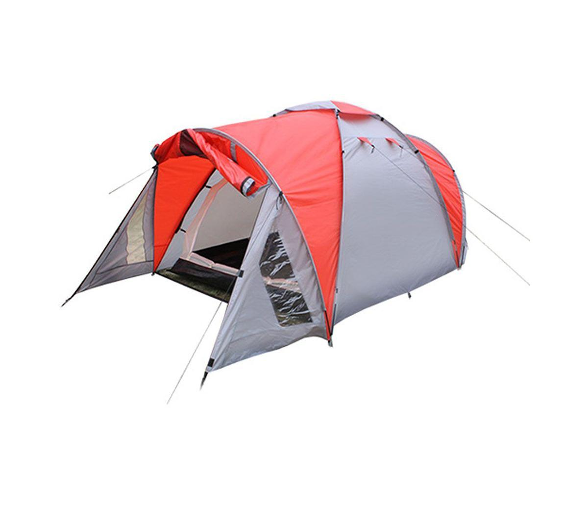Палатка Happy Camper PL-3P-86212PL-3P-86212Просторная трехместная палатка с двумя тамбурами для хранения вежей прекрасно подходит для кемпинга. Два входа и три вентиляционных отверстия обеспечивают прекрасную проветриваемость помещения. Противомоскитные сетки защитят от насекомых, а благодаря внутренним карманам все необходимые вещи всегда будут под рукой.Особенности:Удобная сумка из 100% полиэстера;18 колышков, 16 строп из 100% полиэстера для укрепленной растяжки;Проклеенные швы;Два вентиляционных отверстия. Характеристики: Размер палатки в разложенном виде (ДхШхВ): 360 см х 180 см х 125 см. Внешний тент:190T полиэстер с водопроницаемостью 2000 мм. Внутренняя палатка: 190T полиэстер. Дно: 120GSM полиэтилен. Каркас:дуги из фибергласа диаметром 7,9 мм и 8,5 мм. Вес:4700 г. Размер в сложенном виде: 60 см х 16 см х 16 см.