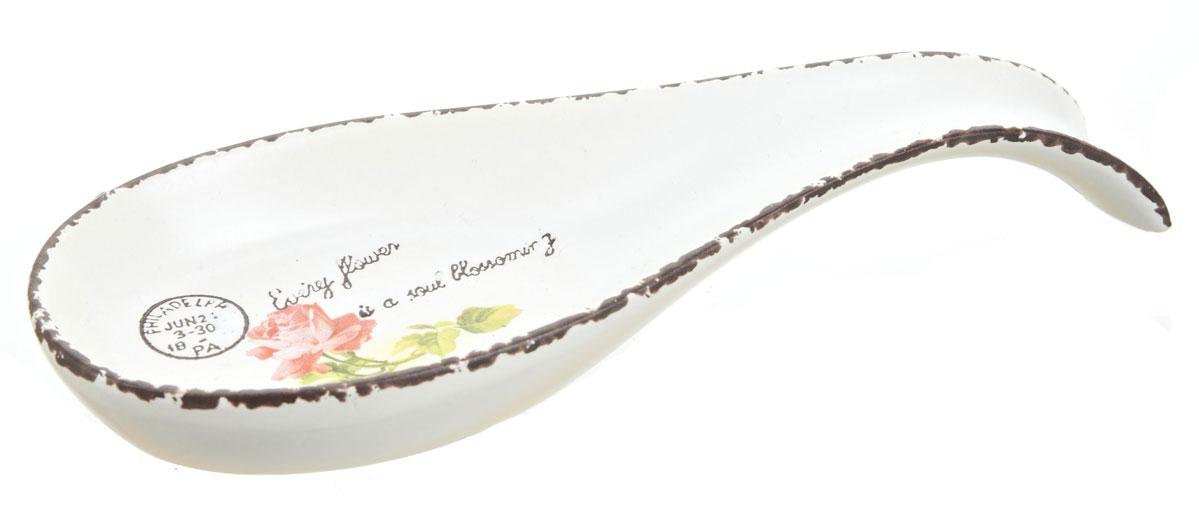 Подставка под ложку ENS Group Flower1750038Подставка под ложку Flower выполнена из керамики и украшена изящным рисунком. Подставка под ложку - очень удобный и полезный аксессуар на вашей кухне. Она поможет поддерживать чистоту на столе во время приготовления пищи, теперь есть куда положить ложку, которой вы помешиваете блюда. Подставка под ложку украсит кухонный стол, а также станет замечательным подарком для ваших друзей и близких.