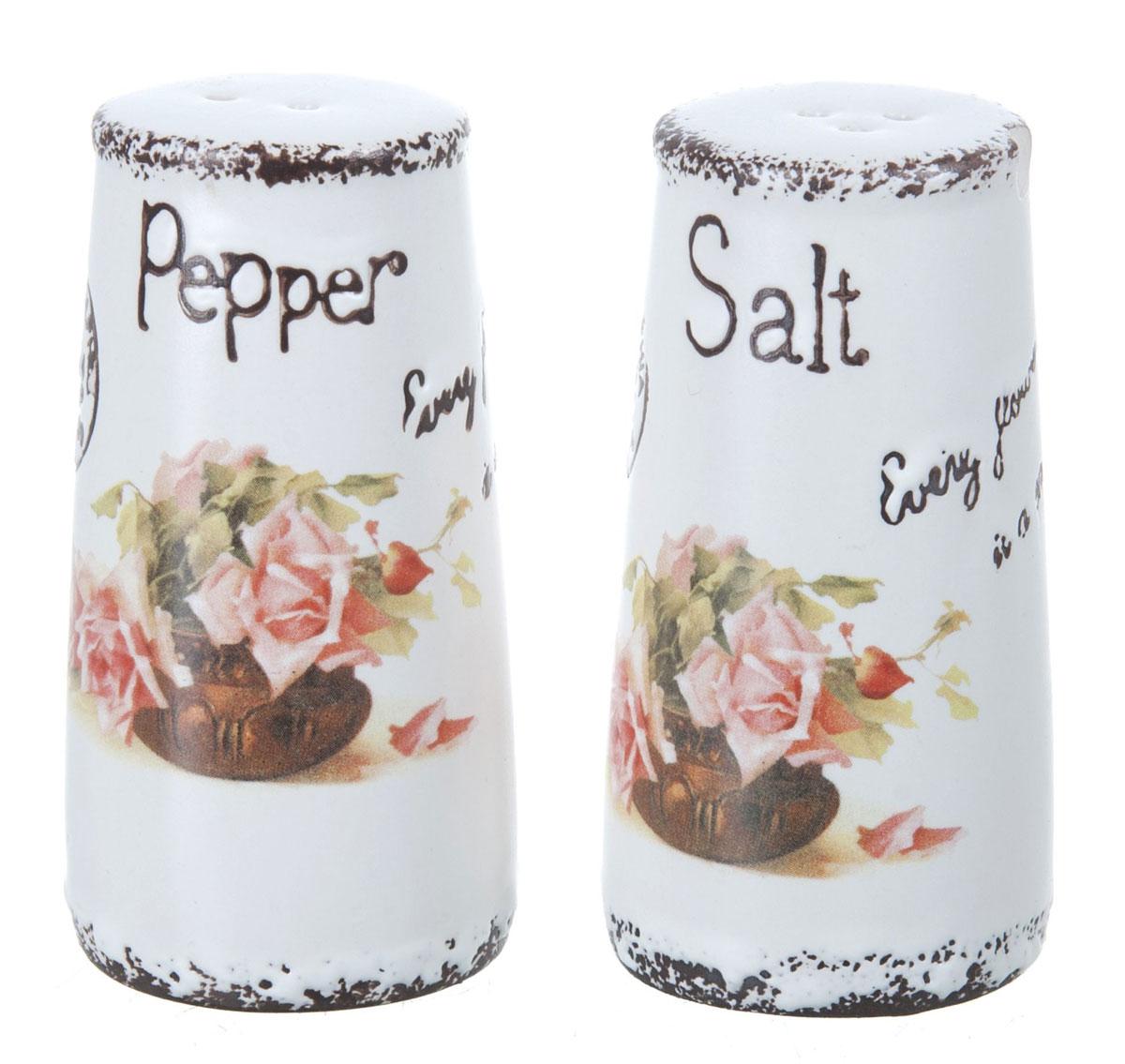 Набор для специй ENS Group Чайная роза, 2 предмета1750157Набор для соли и перца, выполненный из керамики, благодаря своим компактным размерам не займет много места на вашей кухне. Солонка и перечница декорированы оригинальным рисунком. Набор для соли и перца станет отличным подарком каждой хозяйке.