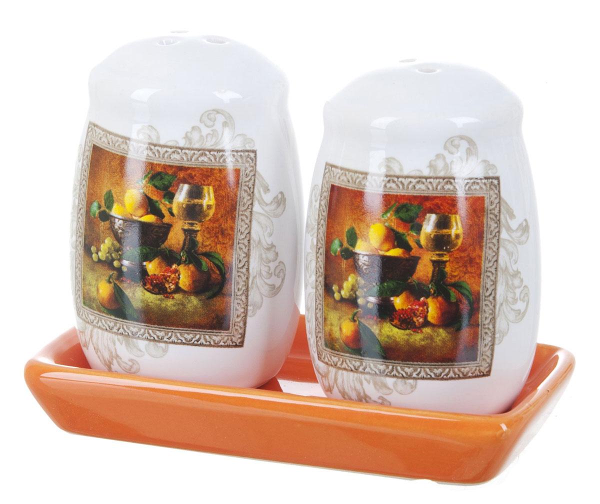 Набор для специй Polystar Севилья, 3 предметаL2520554Набор Севилья для соли и перца, выполненный из керамики, благодаря своим компактным размерам не займет много места на вашей кухне. Солонка и перечница декорированы оригинальным рисунком. Набор Севилья для соли и перца станет отличным подарком каждой хозяйке.Размер набора: 11 x 6 x 8,5 см.