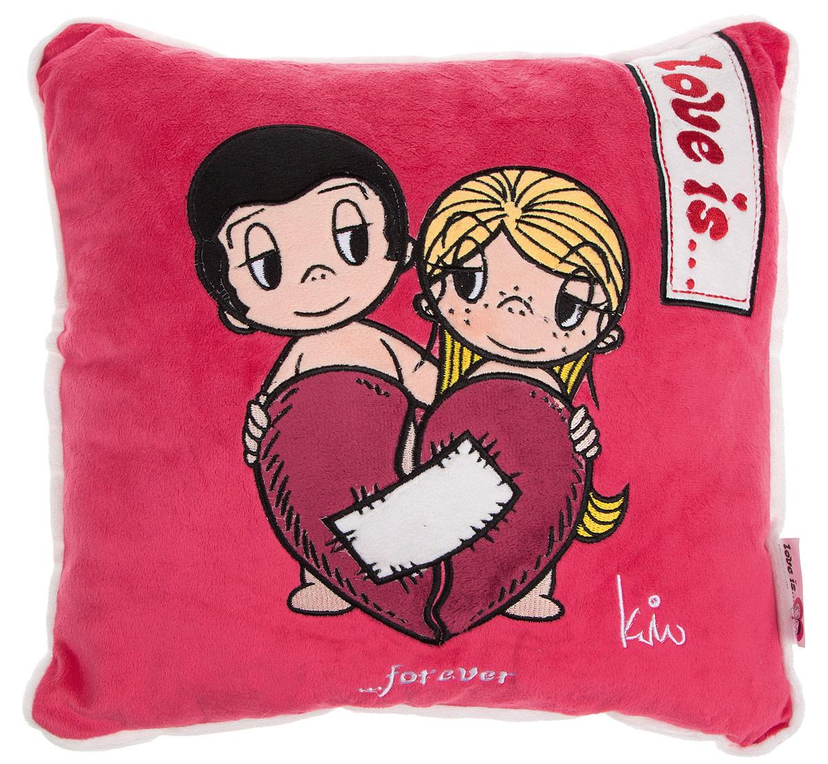 Maxi Toys Подушка Love Is цвет красный белый бордовый fosta подушка надувная с вырезом под голову f8052 синяя 42 х 27 5 см
