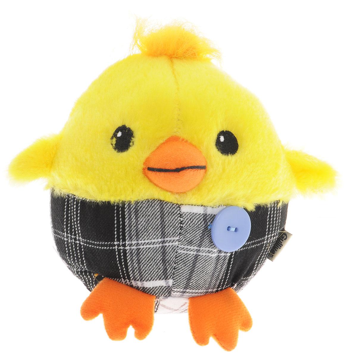 Gulliver Мягкая игрушка Цыпленок Солнышко в штанишках цвет желтый черный серый 12 см gulliver мягкая игрушка цыпленок солнышко в штанишках цвет желтый черный серый 12 см