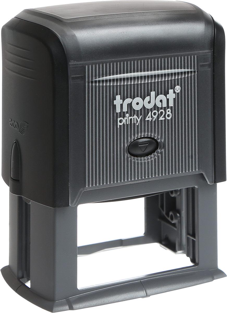 Trodat Оснастка для штампа 60 мм х 33 мм4928 P3Оснастка для штампа Trodat будет незаменима в отделе кадров или в бухгалтерии любой компании. Прочный пластиковый корпус с автоматическим окрашиванием гарантирует долговечное бесперебойное использование. Модель отличается высочайшим удобством в использовании и оптимально ложится в руку. Оттиск проставляется практически бесшумно, легким нажатием руки. Улучшенная конструкция и видимая площадь печати гарантируют качество и точность оттиска. Текстовые пластины прямоугольной формы 60 мм х 33 мм подойдут для изготовления клише по индивидуальному заказу. Модель оснащена кнопкой блокировки.Оснастка для штампа Trodat идеальна для ежедневного использования в офисе.