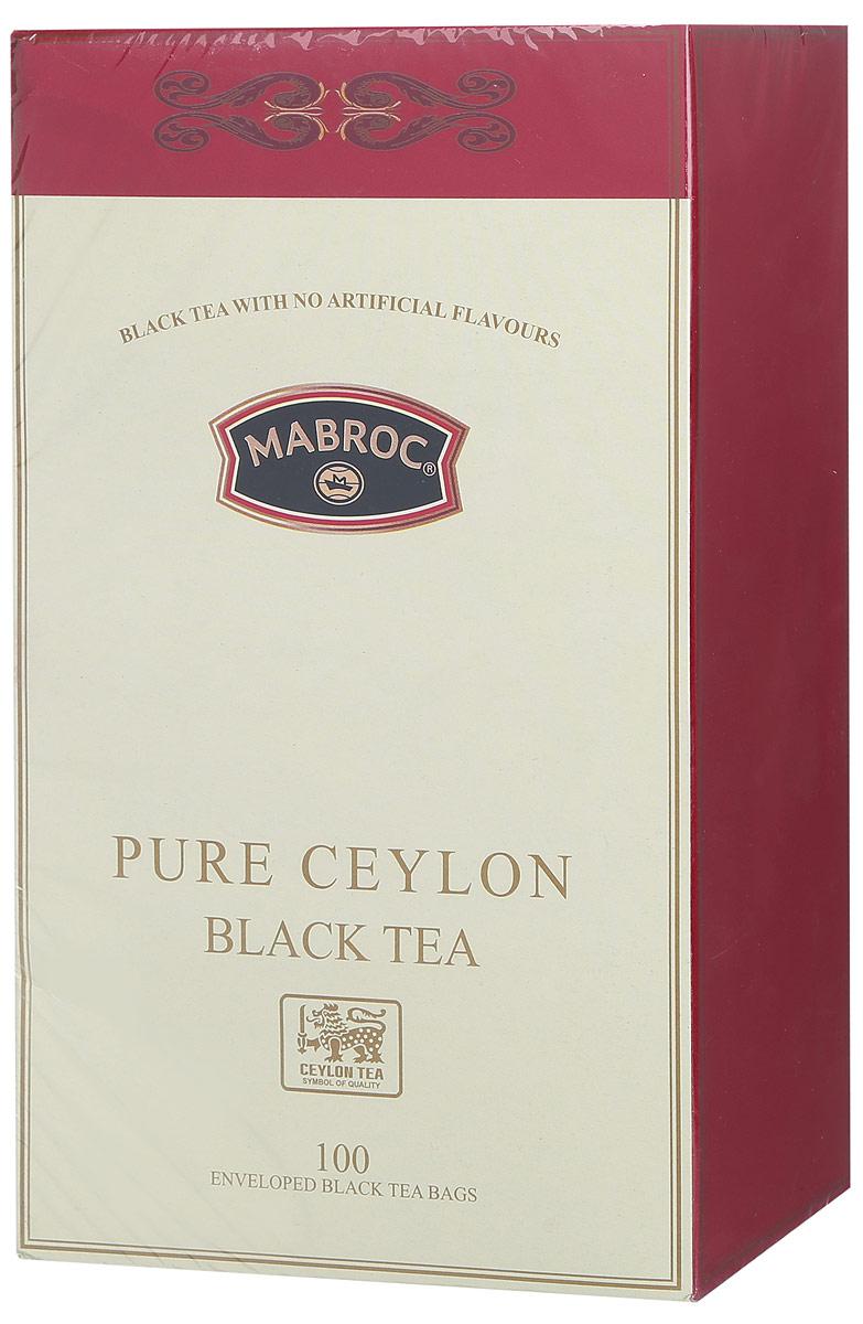 Mabroc Голд чай черный в пакетиках, 100 шт mabroc эрл грей чай черный листовой 100 г