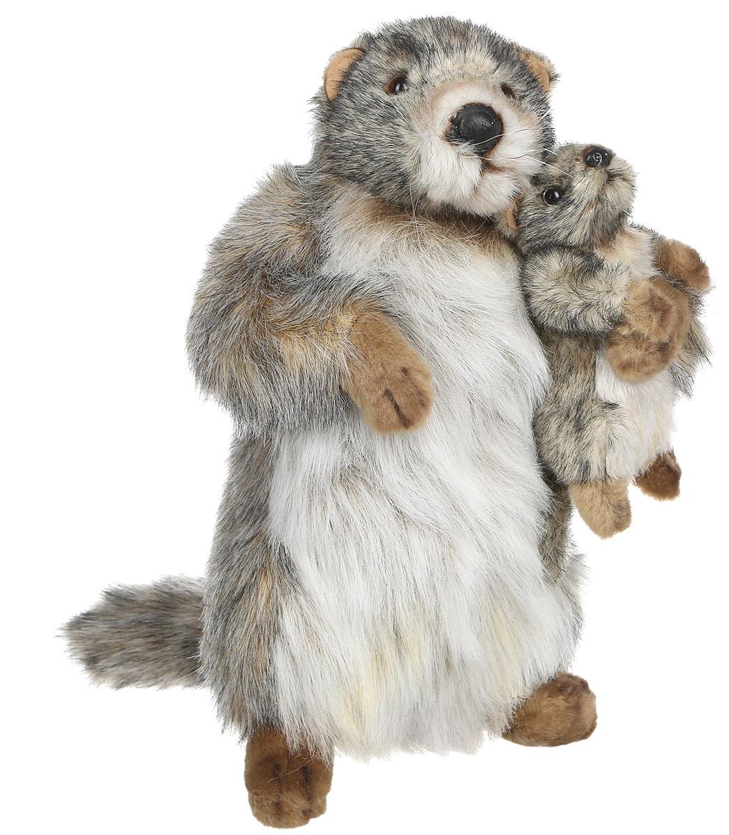 Hansa Мягкая игрушка Сурок с детенышем 32 см мягкие игрушки hansa сурок с детенышем 35 см