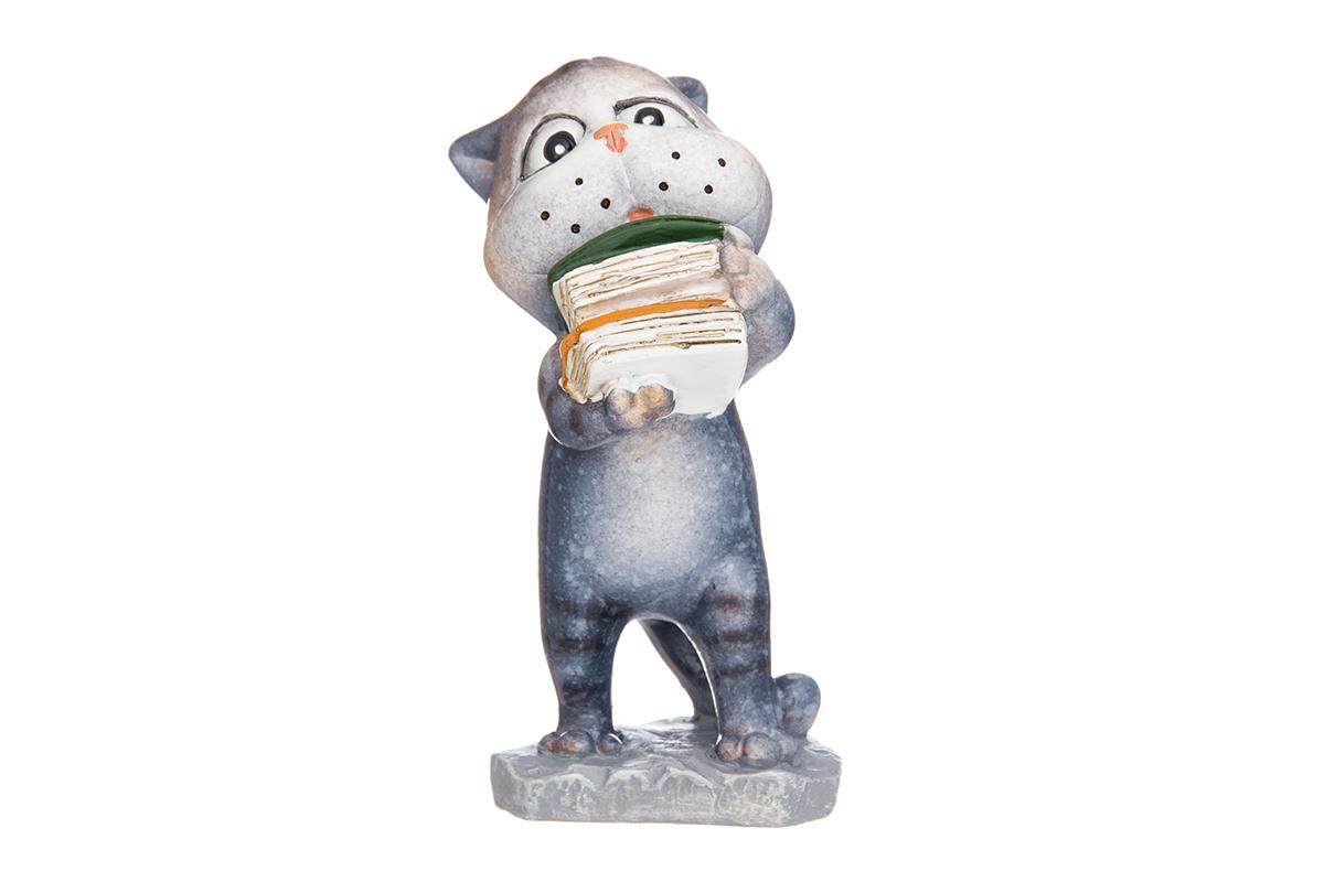 Фигурка декоративная Elan Gallery Ученый котик, высота 9,5 см фигурки elan gallery фигурка лягушка модница