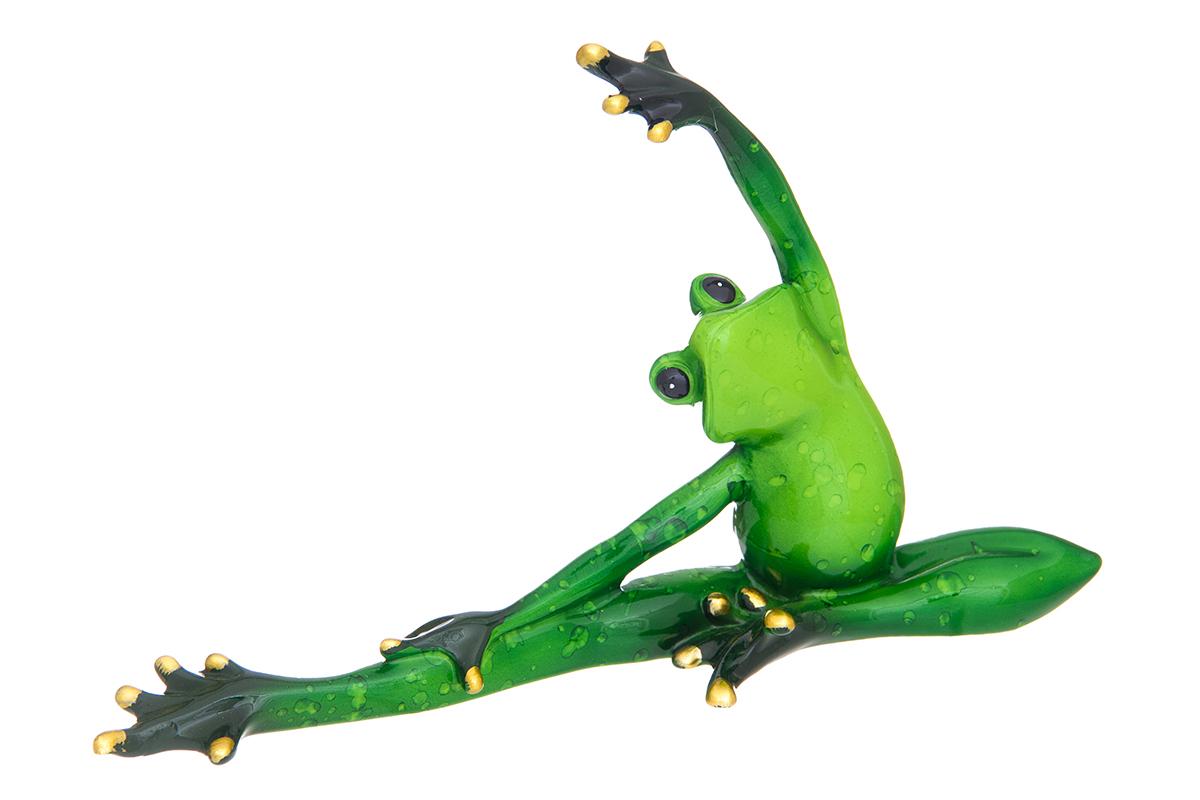 Фигурка декоративная Elan Gallery Лягушка-балерина, высота 12 см870204Декоративные фигурки - это отличный способ разнообразить внутреннее убранство вашего дома. Декоративная фигурка с изображением лягушки станет прекрасным сувениром, который вызовет улыбку и поднимет настроение.Фигурка выполнена из полистоуна.Размер статуэтки: 20 х 5,5 х 12 см.