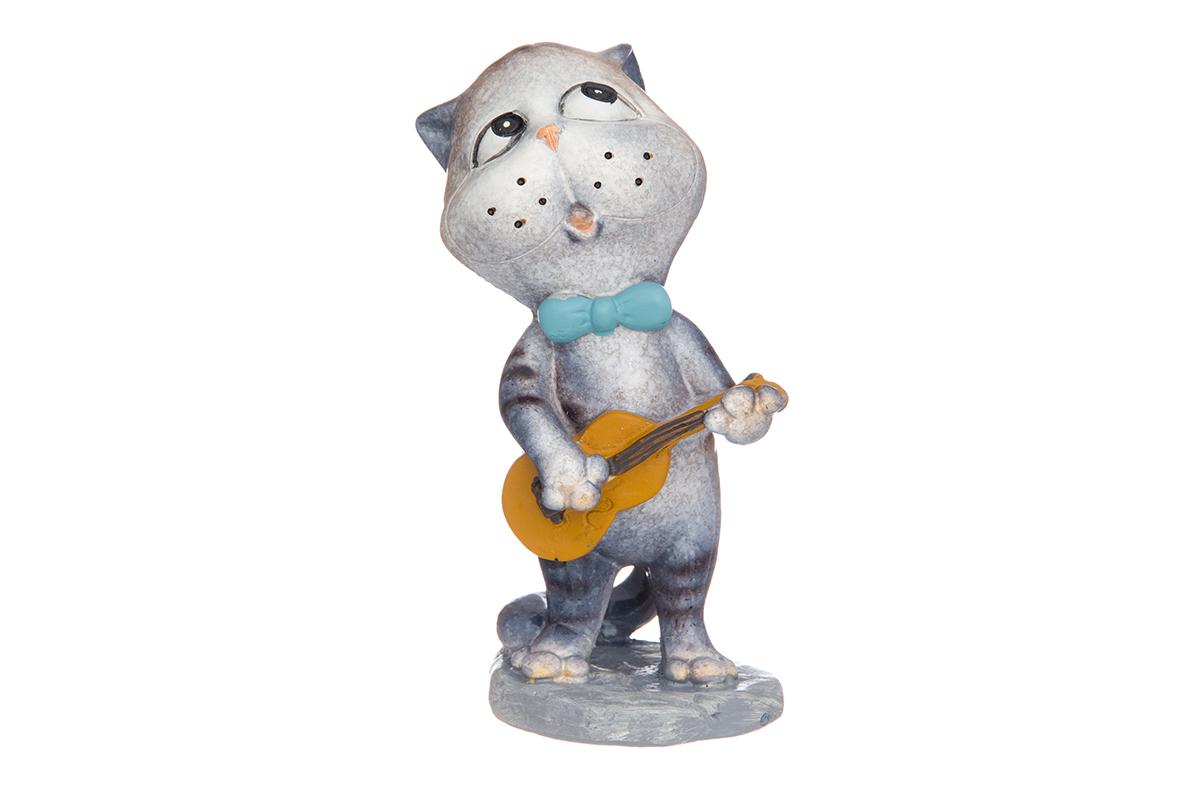 Фигурка декоративная Elan Gallery Котик-гитарист, высота 9,5 см фигурки elan gallery фигурка декоративная кот почтальон