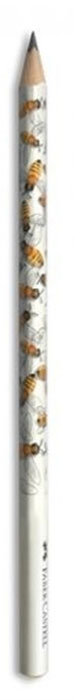 Faber-Castell Чернографитовый карандаш Triangular цвет корпуса белый желтый мотив пчела118362Чернографитовый карандаш Faber-Castell Triangular станет не только идеальным инструментом для письма, рисования или черчения, но и дополнит ваш имидж. Трехгранный корпус выполнен из натуральной древесины. Высококачественный прочный грифель не крошится и не ломается при заточке. Качественная мягкая древесина обеспечивает хорошее затачивание. Степень твердости - B.