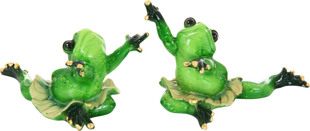 Фигурка декоративная Elan Gallery Лягушки-танцовщицы, высота 9 см, 2 предмета870024Декоративные фигурки - это отличный способ разнообразить внутреннее убранство вашего дома. Декоративная фигурка с изображением кота станет прекрасным сувениром, который вызовет улыбку и поднимет настроение.Фигурка выполнена из полистоуна.Комплектация: 2 фигурки.Размер статуэтки: 13 х 9 см.