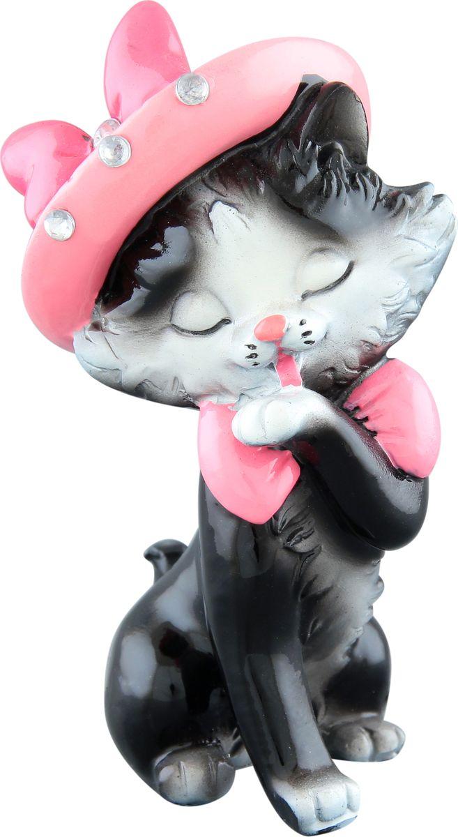 Фигурка декоративная Elan Gallery Кошечка Мурка в шляпке, высота 11 см фигурки elan gallery фигурка декоративная кот почтальон