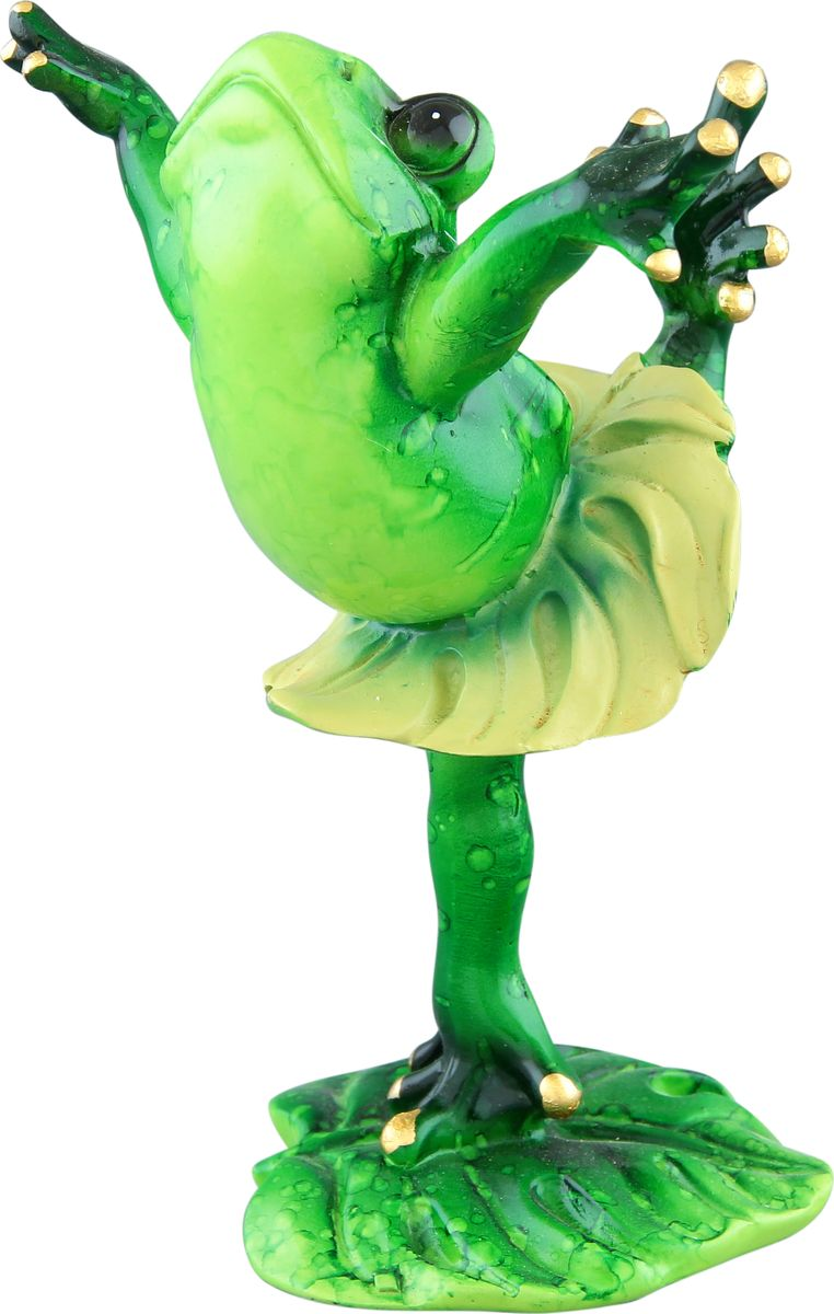 Фигурка декоративная Elan Gallery Лягушка-балерина, высота  13 см фигурки elan gallery фигурка декоративная кот почтальон