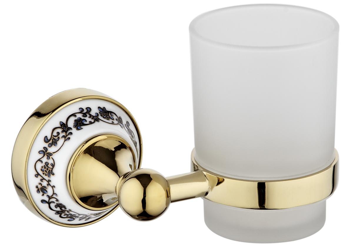 Держатель для зубных щеток РМС, цвет: золото. А6030А6030Держатель для зубных щеток, крепление к стене, золотой цвет