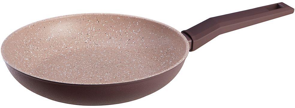 """Сковорода Nadoba """"Tava"""" изготовлена из кованого алюминия с прочным четырехслойным антипригарным покрытием PFLUON Cookmark. Подходит для ежедневного использования. Антипригарное покрытие не содержит PFOA, кадмий, свинец, а также любых других вредных веществ и полностью безопасно.Корпус из кованого алюминия обеспечивает равномерной нагрев всей поверхности посуды и не деформируется при нагревании или после частого использования. Удобные бакелитовые ручки с покрытием Soft-touchне нагреваются и не выскальзывают из рук.Подходит для всех типов плит, включая индукционные. Диаметр: 26 см.."""