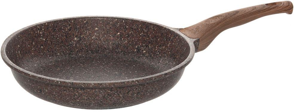 Сковорода Nadoba Greta, с антипригарным покрытием. Диаметр 28 см728616Сковорода Nadoba Greta изготовлена из литого алюминия с внутренним и внешним 5-слойным антипригарным покрытием Pfluon на основе структуры гранита. Покрытие не содержит PFOA и абсолютно безопасно для здоровья. Покрытие позволяет готовить пищу с применением минимального количества масла и жиров. Высокая прочность покрытия позволяет использовать металлические кухонные принадлежности. Удобная ручка Soft Touch, изготовленная из пластика, не нагревается при приготовлении. Сковорода идеально подходит для использования на всех типах плит, включая индукционные. Можно мыть в посудомоечной машине. Диаметр сковороды (по верхнему краю): 28 см.