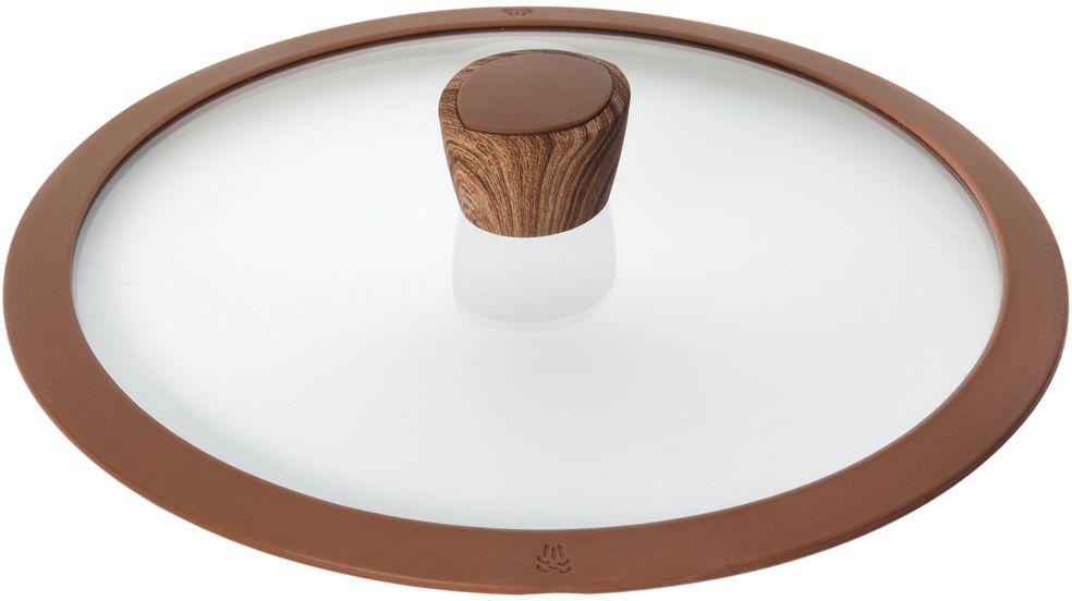 """Крышка Nadoba """"Greta"""", изготовленная из закаленного стекла, имеет силиконовый обод, благодаря чему идеально прилегает к посуде и обеспечивает равномерное распределение температуры внутри нее.  Крышка имеет удобную ненагревающую ручку из пластика с силиконовым покрытием, предотвращающим выскальзывание из рук. По бокам изделие оснащено пароотводом.  Такая крышка позволит следить за процессом приготовления пищи без потери тепла. Она плотно прилегает к краям посуды, сохраняя аромат блюд."""