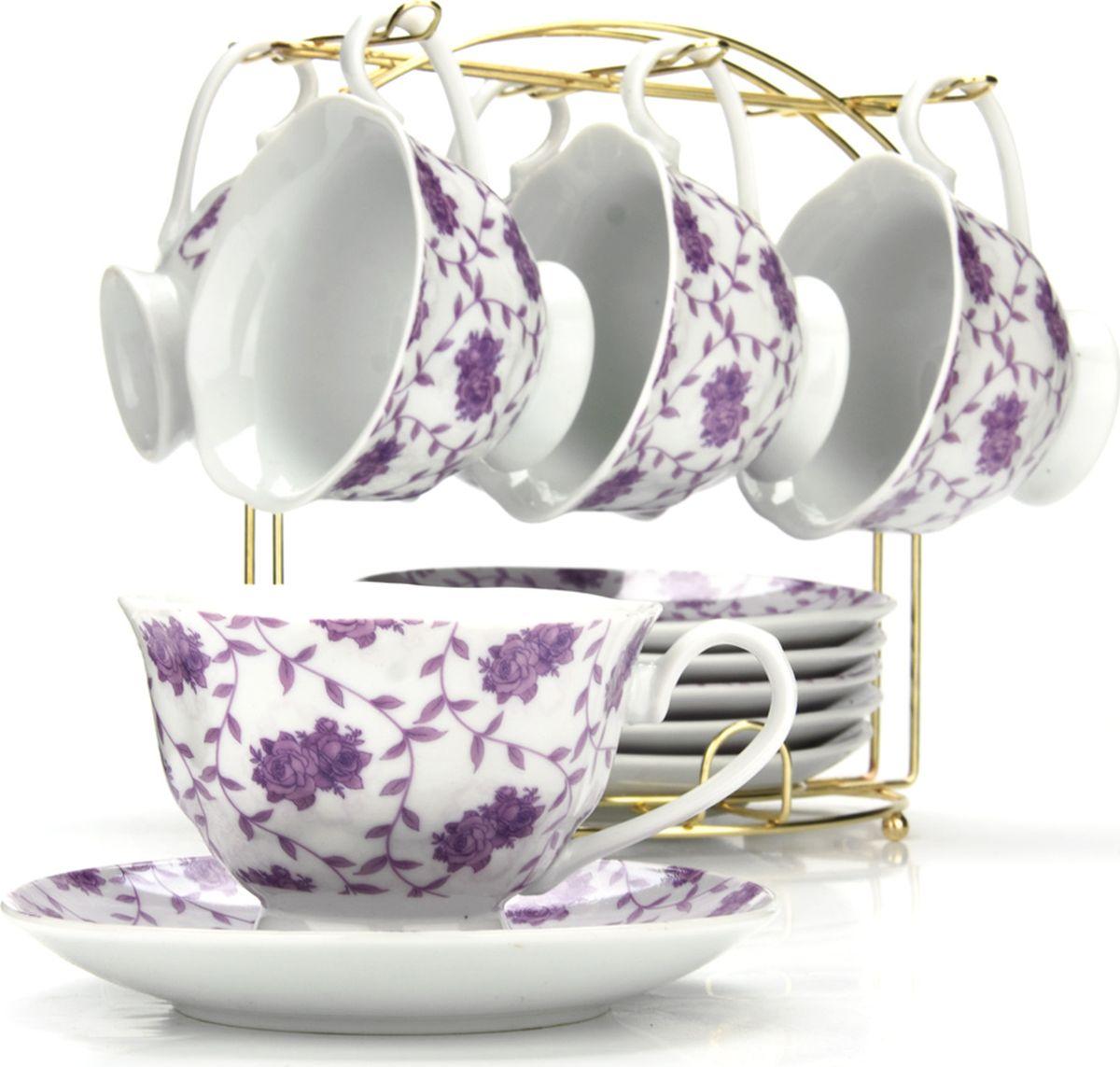 Сервиз чайный Loraine, на подставке, 13 предметов. 43293 сервиз чайный loraine на подставке 13 предметов 43283