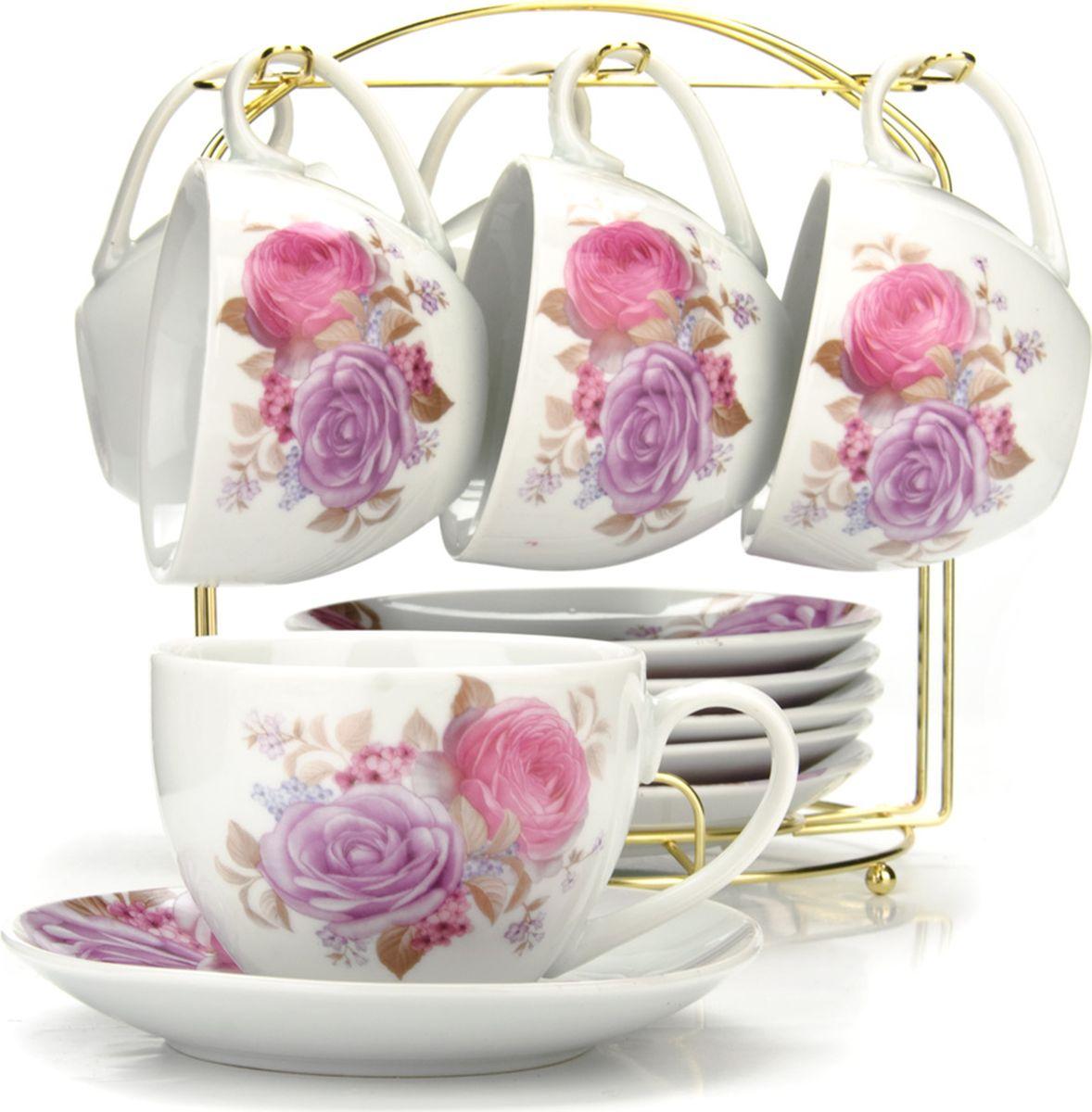 Сервиз чайный Loraine, на подставке, 13 предметов. 43289 сервиз чайный loraine на подставке 13 предметов 43294