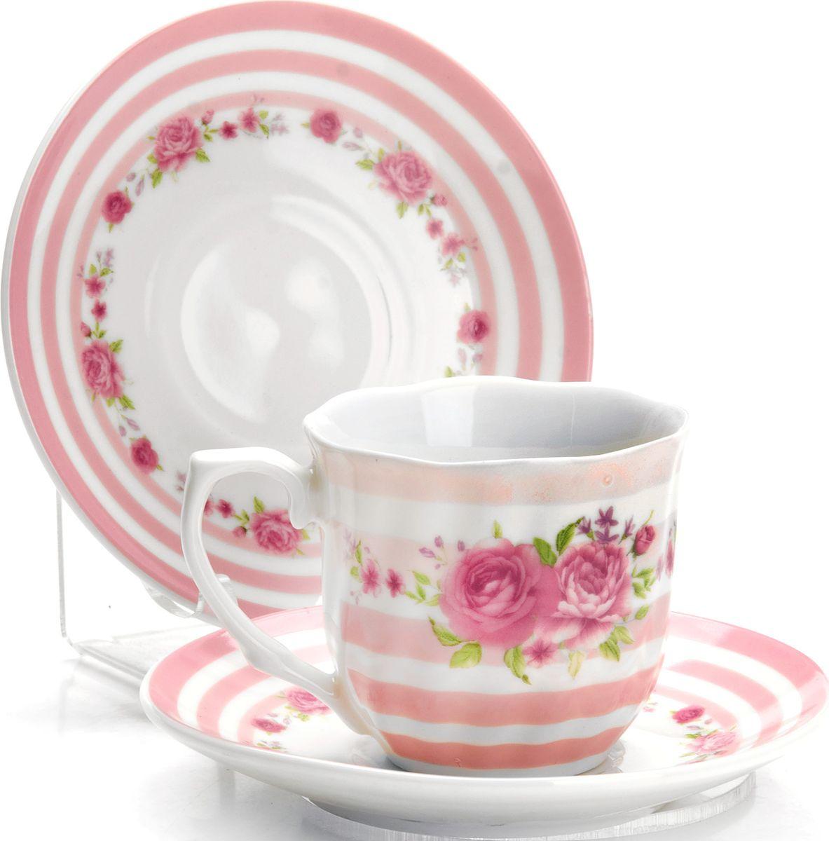Набор кофейный Loraine, 12 предметов. 4332825956Кофейный сервиз на 6 персон изготовлен из качественного фарфора и оформлен красивым цветочным рисунком. Элегантный и удобный кофейный сервиз не только украсит сервировку стола, но и поднимет настроение и превратит процесс чаепития в одно удовольствие.Сервиз состоит из 12 предметов: шести чашек и шести блюдец, упакованных в подарочную коробку. Чашки имеют удобную, изящную ручку. Изделия легко и просто мыть. Кофейный сервиз прекрасно подойдет в качестве подарка для родных и друзей на любой праздник!Диаметр чашки: 6 см.Высота чашки: 5,5 см.Объем чашки: 80 мл.Диаметр блюдца: 11 см.