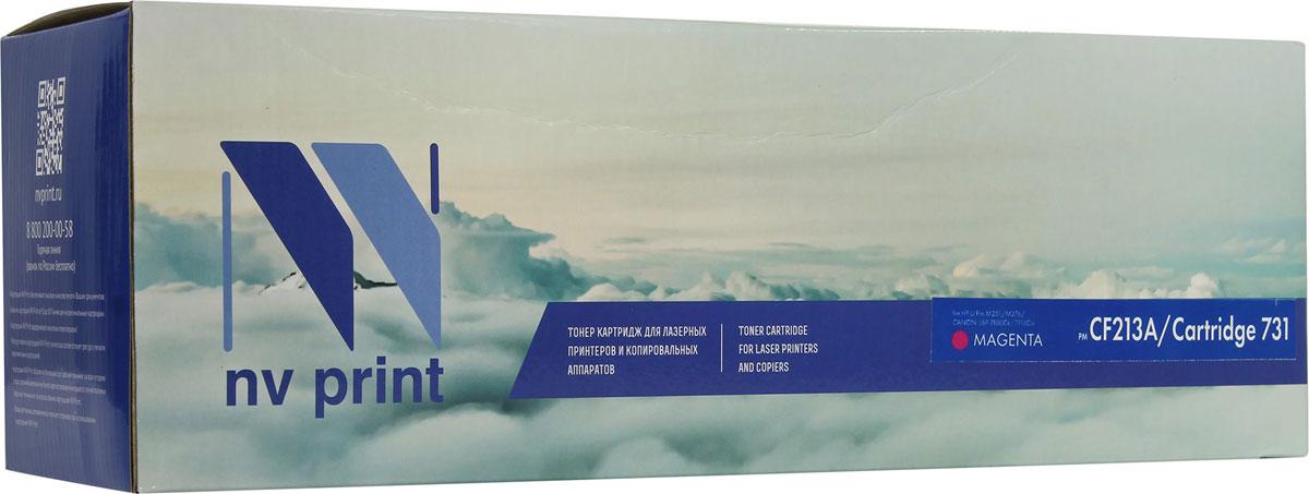 NV Print CF213A/CANON731M, Magenta тонер-картридж для HP LaserJet Pro M251/M276/CANON LBP 7100Cn/7110CwCF213A/CANON731MСовместимый лазерный картридж NV Print для печатающих устройств Canon/HP - это альтернатива приобретению оригинальных расходных материалов. При этом качество печати остается высоким. Картридж обеспечивает повышенную чёткость чёрного текста и плавность переходов оттенков серого цвета и полутонов, позволяет отображать мельчайшие детали изображения.Лазерные принтеры, копировальные аппараты .и МФУ являются более выгодными в печати, чем струйные устройства, так как лазерных картриджей хватает на значительно большее количество отпечатков, чем обычных. Для печати в данном случае используются не чернила, а тонер.