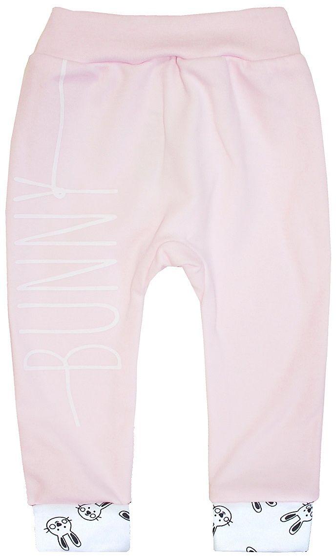 Штанишки КотМарКот Ушастый, цвет: розовый, белый. 5779. Размер 74 брюки котмаркот штанишки сердечко
