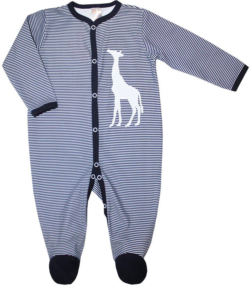 Комбинезон детский КотМарКот Африка, цвет: темно-синий, белый. 6077. Размер 86 комбинезон детский lassie цвет сиреневый темно синий 720703r5691 размер 86
