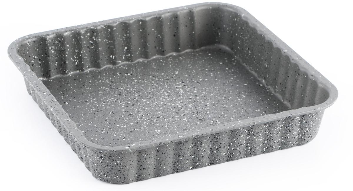 """Форма для выпечки """"Fissman"""" изготовлена из углеродистой  стали и обладает превосходными антипригарными свойствами.  Не содержит в составе вредных веществ. Форма найдет свое  применение для выпечки большинства кулинарных шедевров.  Металлические стенки быстро распределяют тепло, и выпечка  пропекается равномерно. Благодаря антипригарному покрытию  из натуральной крошки на основе минеральных компонентов,  готовый продукт легко вынимается, а чистка формы не составит  большого труда.  Подходит для духовки. Можно мыть в посудомоечной машине."""
