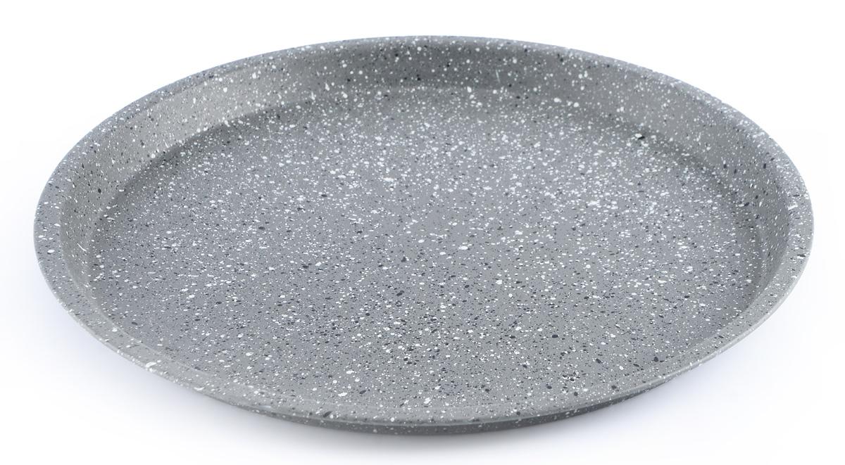 Форма для выпечки пиццы Fissman, с антипригарным покрытием, диаметр 29,5 смBW-5595.29Форма для выпечки пиццы Fissman выполнена из углеродистой стали с антипригарным покрытием TouchStone. Стенки изделия быстро распространяют тепло, и выпечка пропекается равномерно. Готовый продукт легко вынимается из формы, а ее чистка не доставит вам особого труда. Такая форма создана, чтобы пробуждать кулинарную фантазию и удовлетворять творческие кулинарные порывы.Подходит для использования в духовке. Не использовать в микроволновой печи. Высота стенки: 1,8 см.Внутренний диаметр формы: 27,5 см.