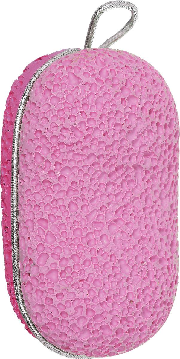 Zinger Пемза педикюрная двухсторонняя из искусственного камня zo-PB-07, цвет: розовый, малиновый