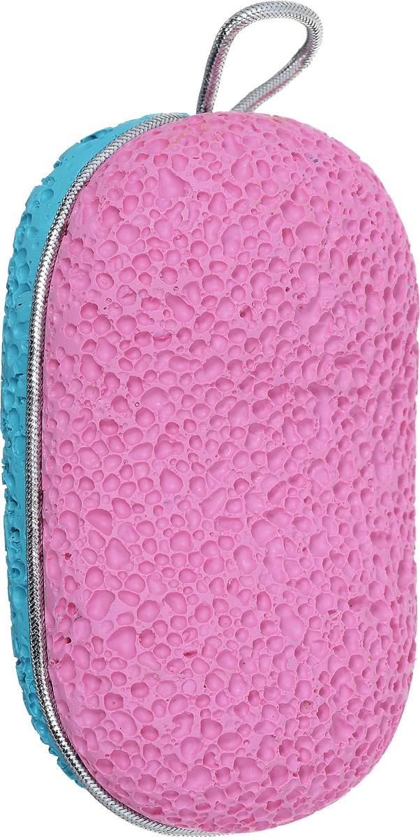 Zinger Пемза педикюрная двухсторонняя из искусственного камня zo-PB-07, цвет: розовый, бирюзовый