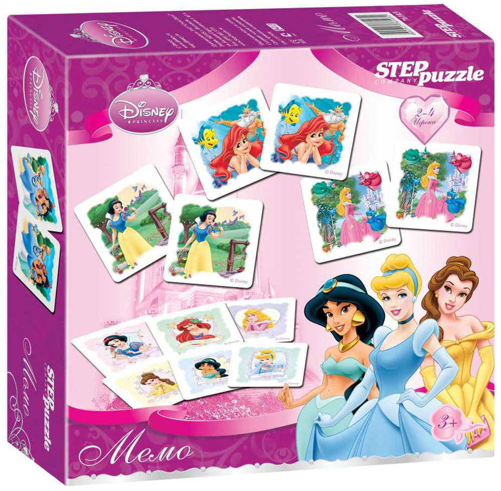 Step Puzzle Обучающая игра Мемо Принцессы