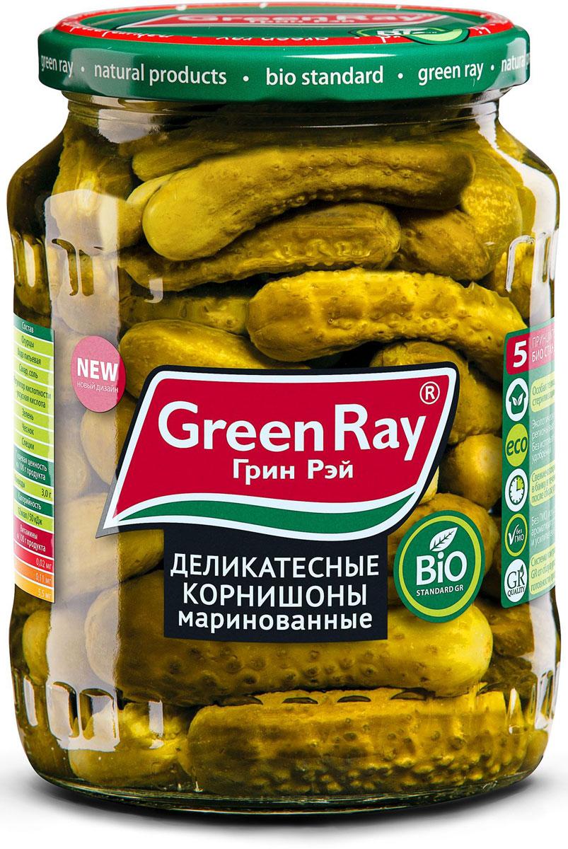 Green Ray огурцы маринованные, 720 мл612Маринованные огурцы Green Ray, размером 6-9 см, приготовлены из свежих огурчиков, выращенных в Краснодарском крае. Превосходный вкус инеповторимую пикантность придает продукту оригинальный букет приправ и специй.