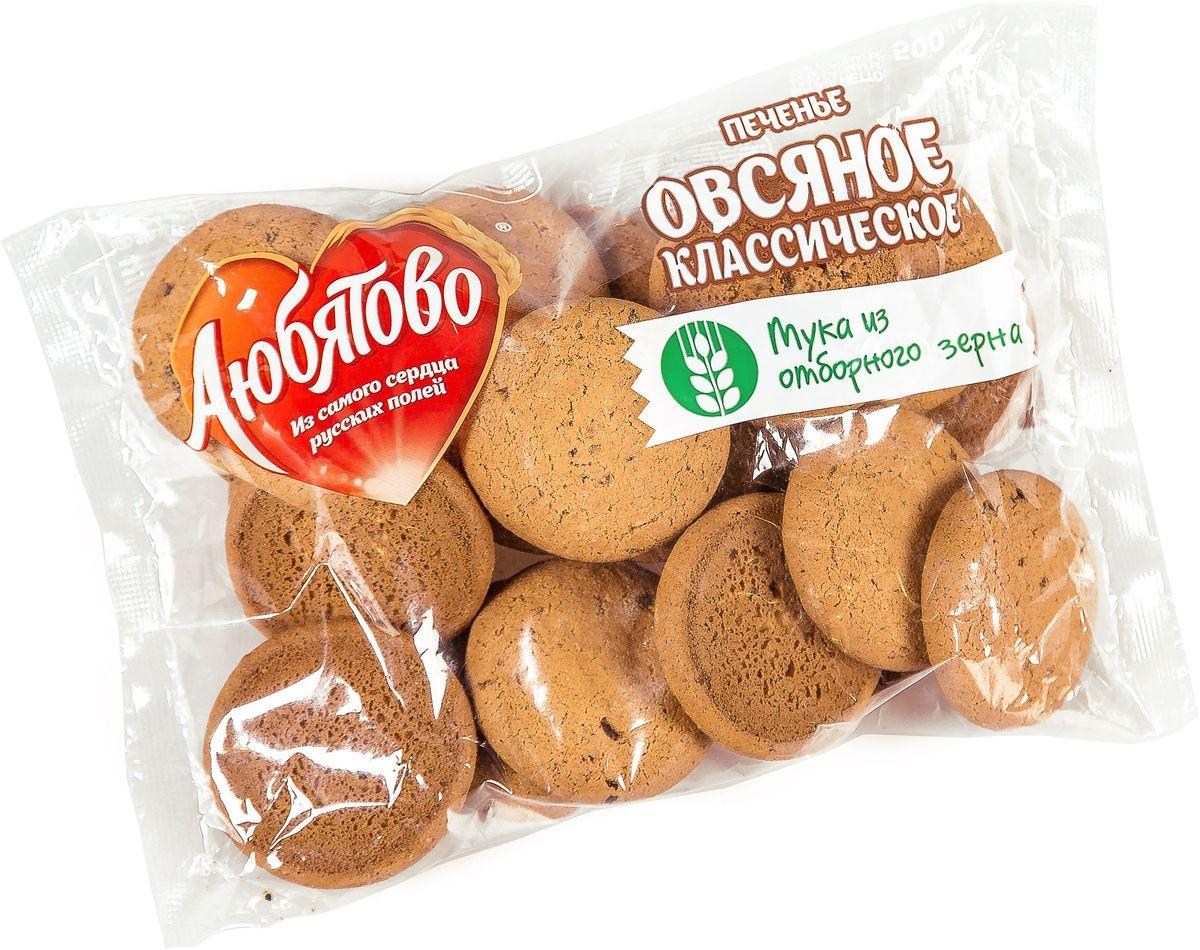 Любятово печенье овсяное классическое традиционное, 500 г4610003252618У нас в Любятово вкус взлетел на новую высоту, потому что мы готовим по улучшенному рецепту.